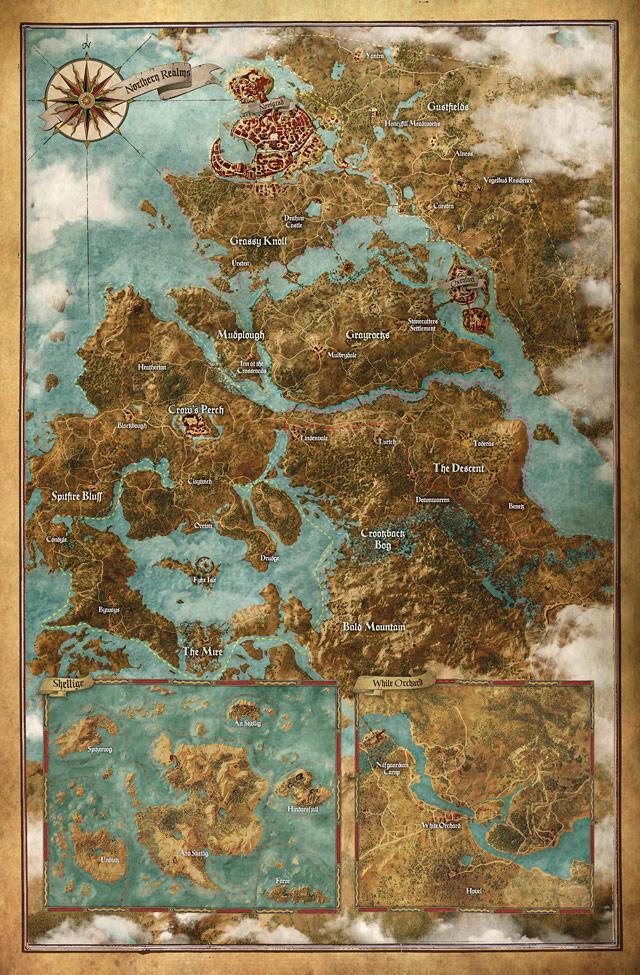 Карта игрового мира The Witcher 3: Wild Hunt